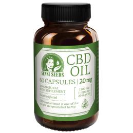 Aceite de CBD - 20 mg - 60 cápsulas sensi seeds