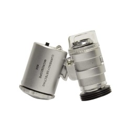 Mini microscopio 60x (2 LED, 1 luz UV)