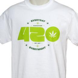 Camiseta 420 Blanca - Sativagrowshop.com