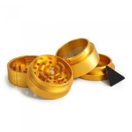 Grinder Fashion Dorado 53mm 4 Partes