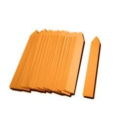 Etiqueta Pincho 13 x 80 mm. Naranja 100 u.