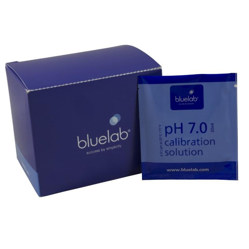 CAJA CALIBRACIÓN PH 7.0 BLUELAB (25 SOBRES 20ML) - Sativagrowshop.com