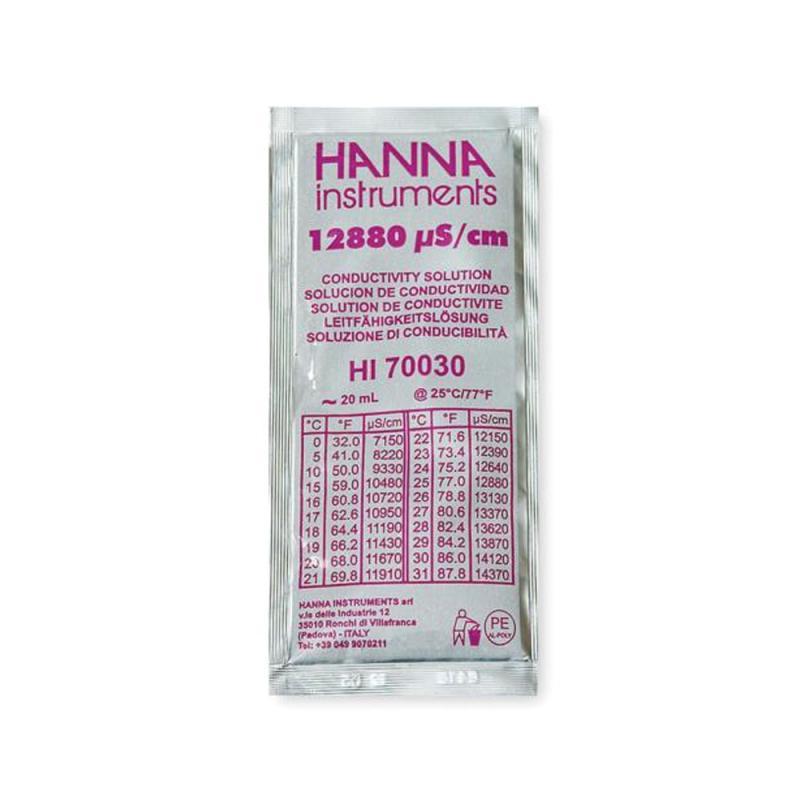 SOBRE CALIBRACIÓN EC HANNA HI 70030 12880ΜS (25 UDS) - Sativagrowshop.com